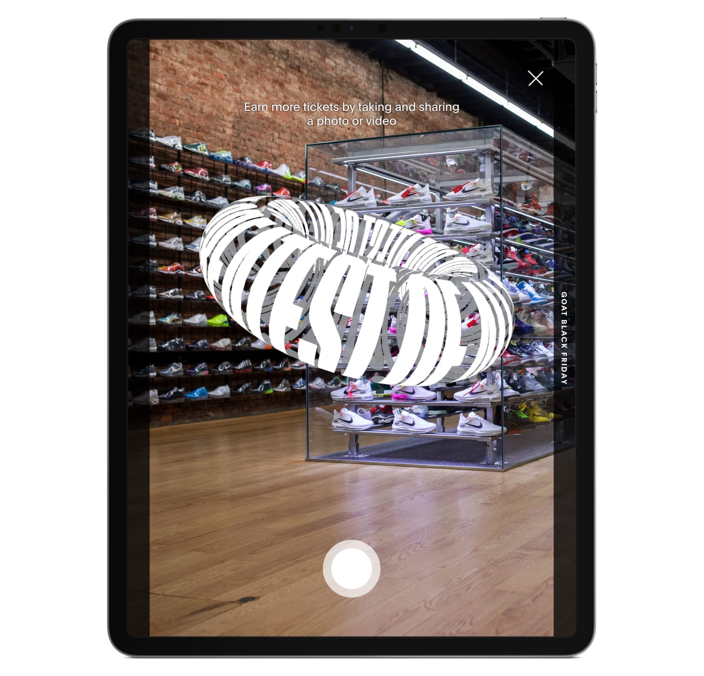 GOAT Black Friday Augmented Reality