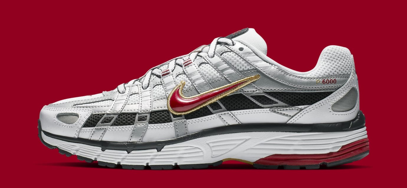 Nike P-6000 CNPT 'Metallic Silver/White/University Red' BV1021-101 (Lateral)