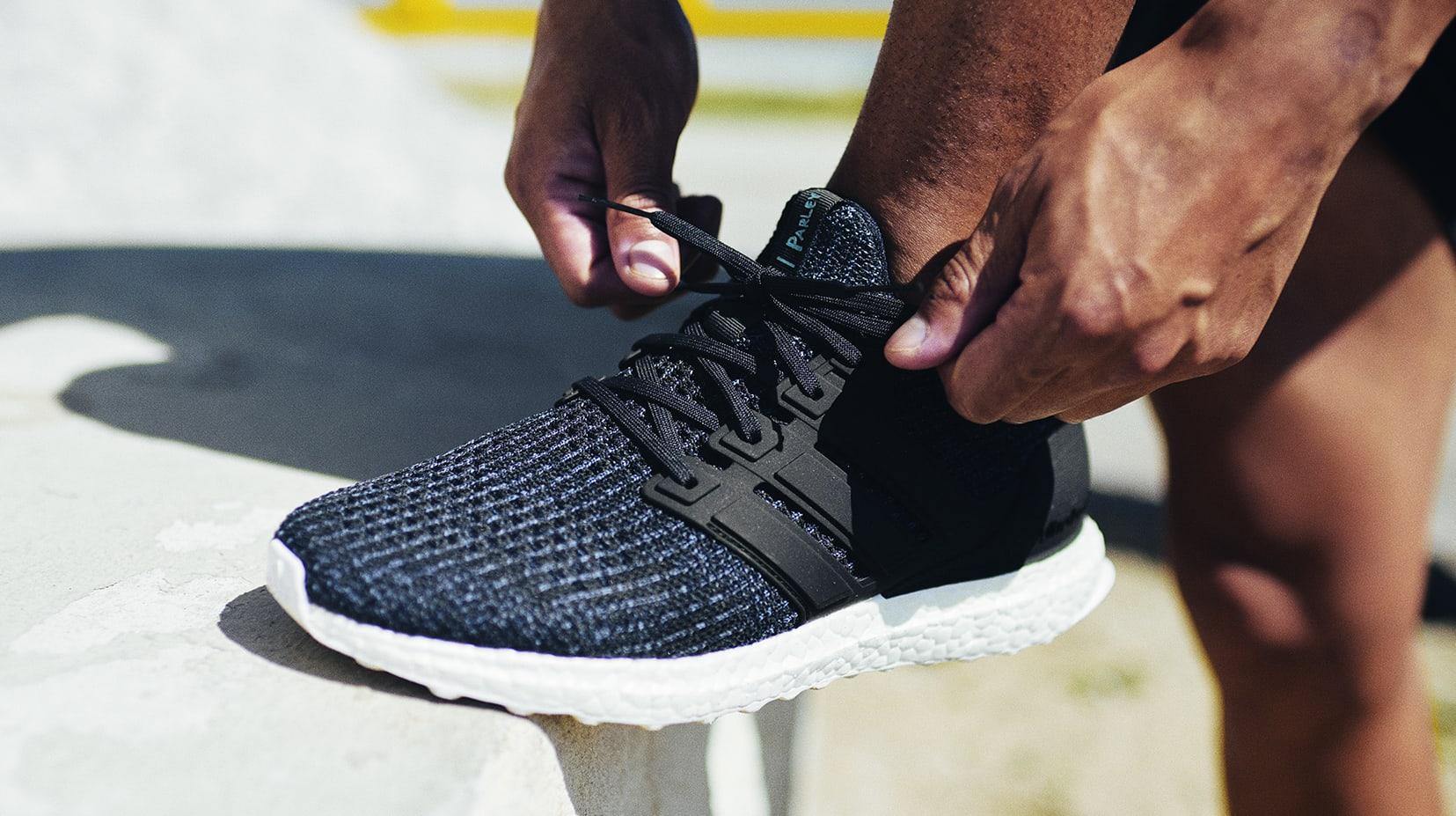 Parley x Adidas Ultra Boost 'Deep Ocean Blue' Men's (On-Foot)