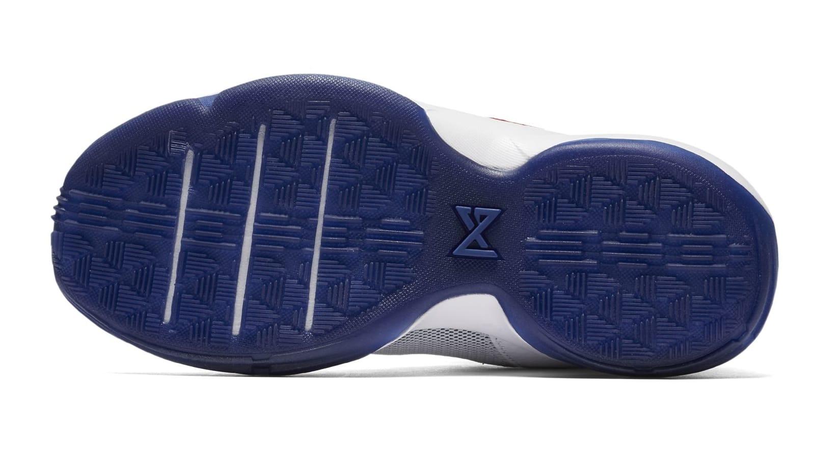 Nike PG 1 GS White/University Red-Deep Royal Blue (Bottom)