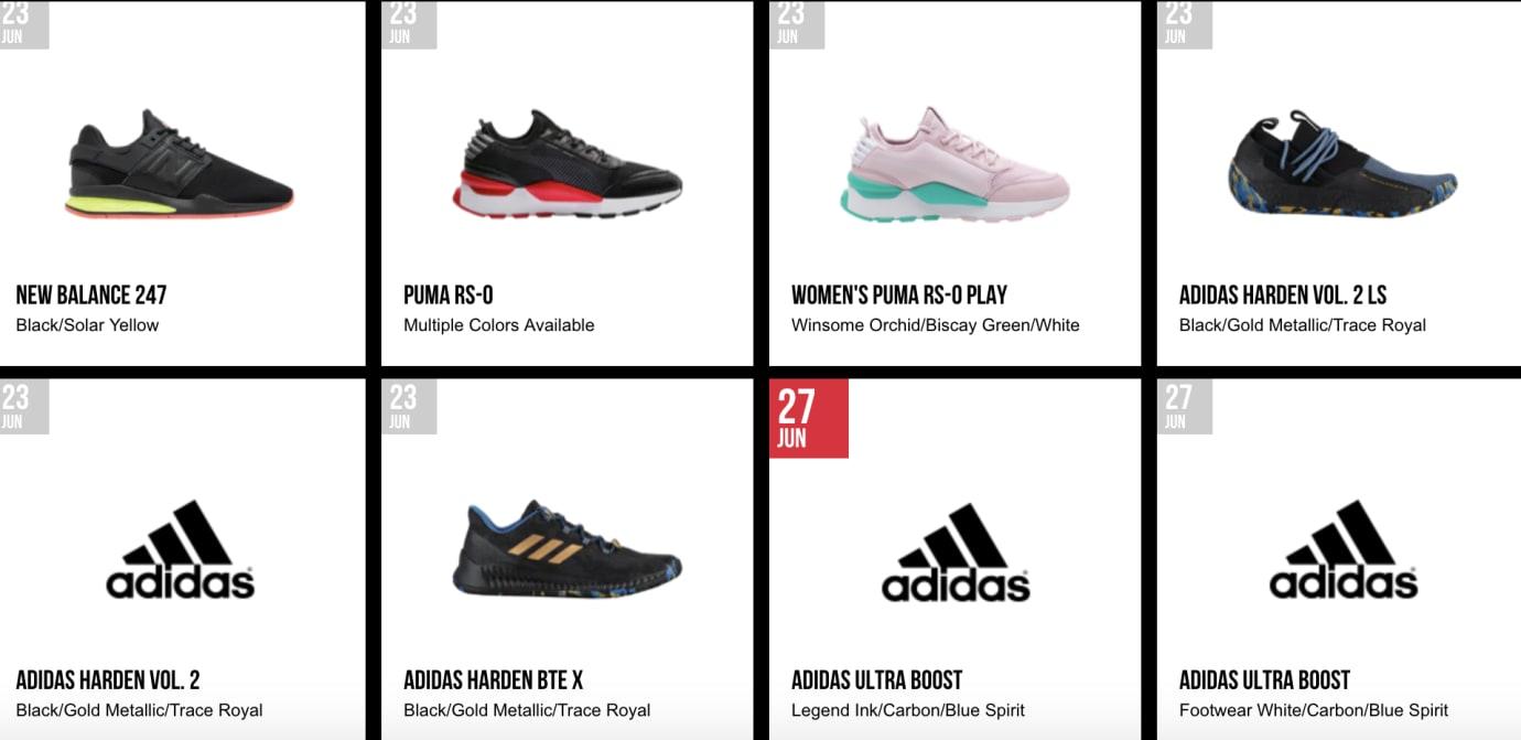 Foot Locker Release Calendar Adidas Harden MVP Pack