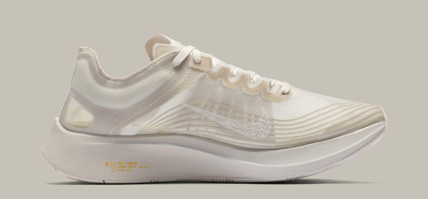 1db3a75e4ab6f Image via Nike Nike Zoom Fly SP  Light Bone  AJ9282-001 (Medial)