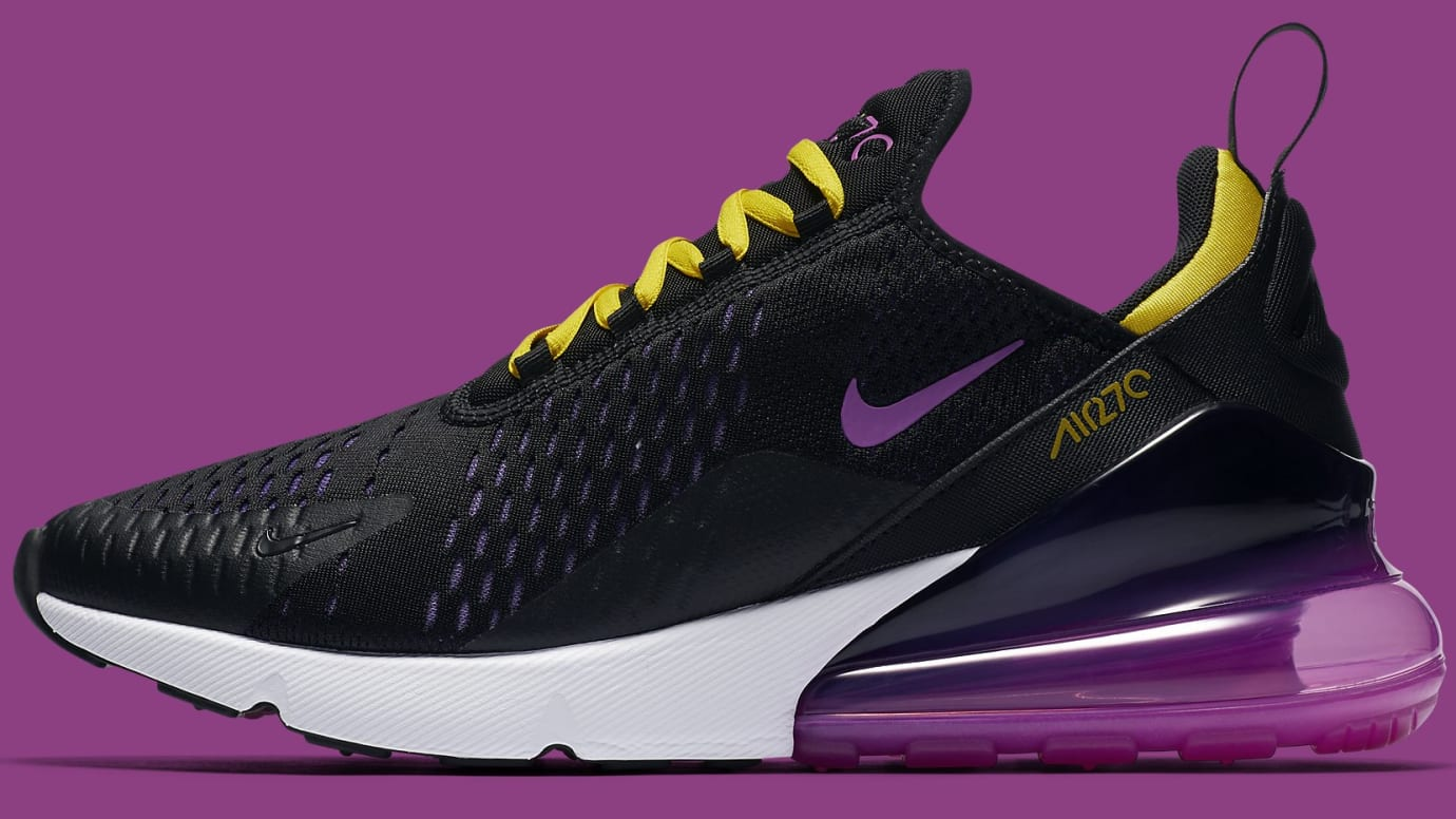 buy popular e24b3 709ef Nike Air Max 270 Los Angeles Lakers | Sole Collector