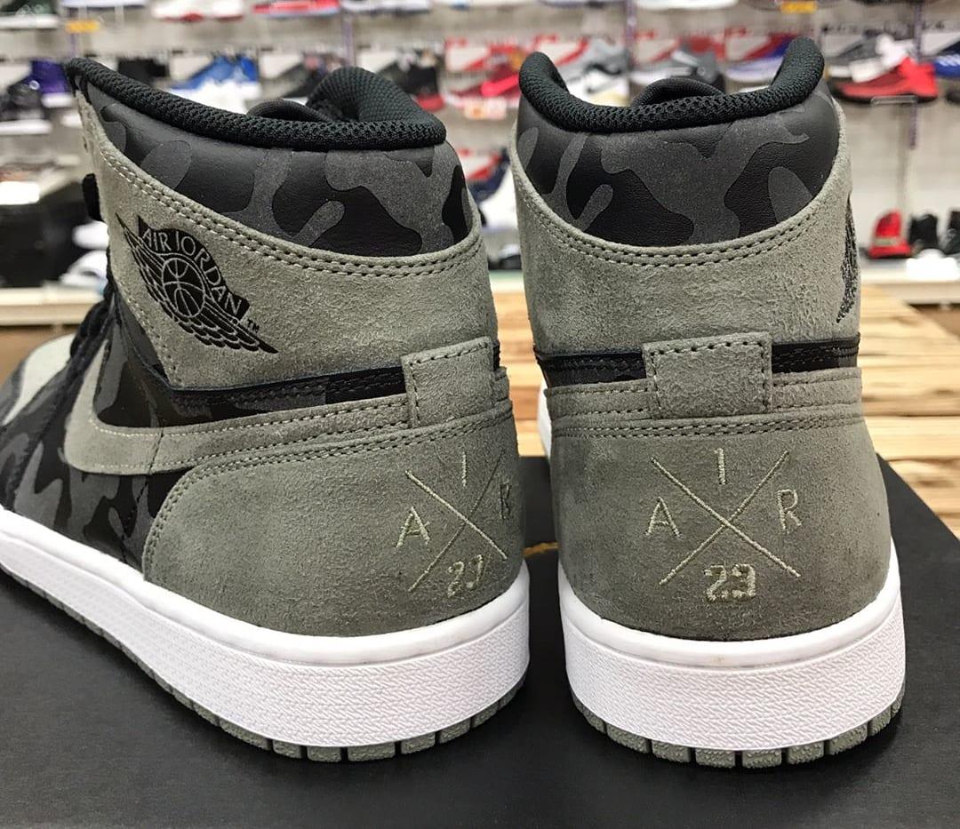 Air Jordan 1 Camo Shadow Release Date Heel