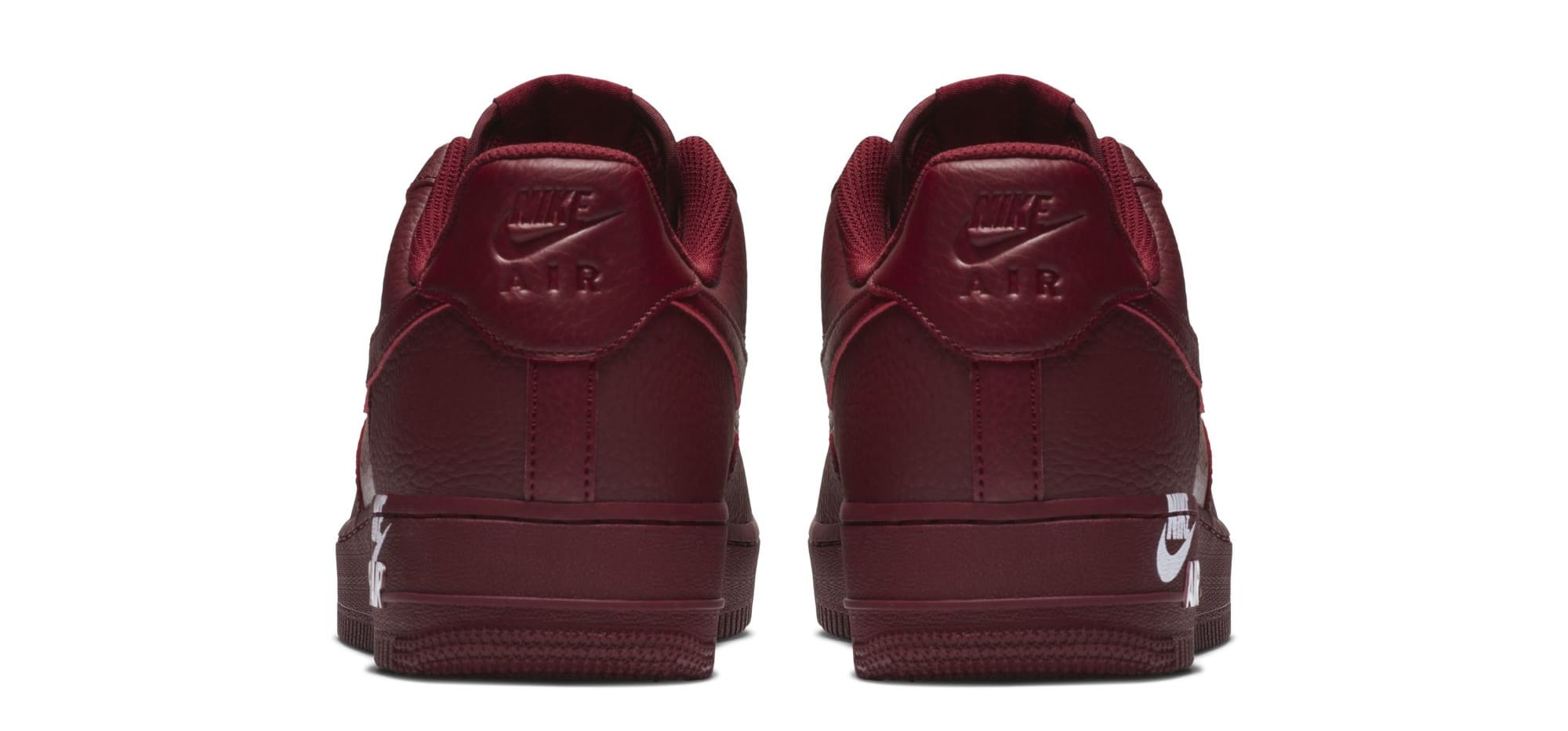 Nike Air Force 1 07 LTHR 'Team Red' (Heel)