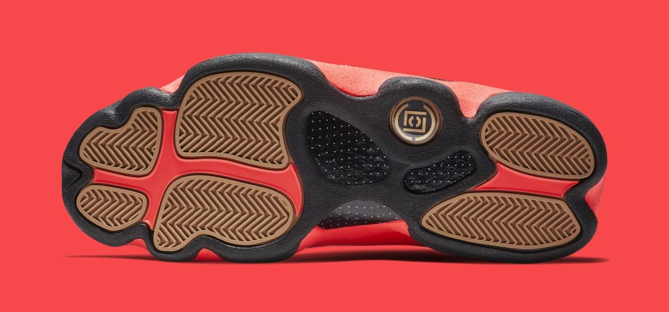 Clot x Air Jordan 13 Low 'Black/Infrared' AT3102-006 (Bottom)