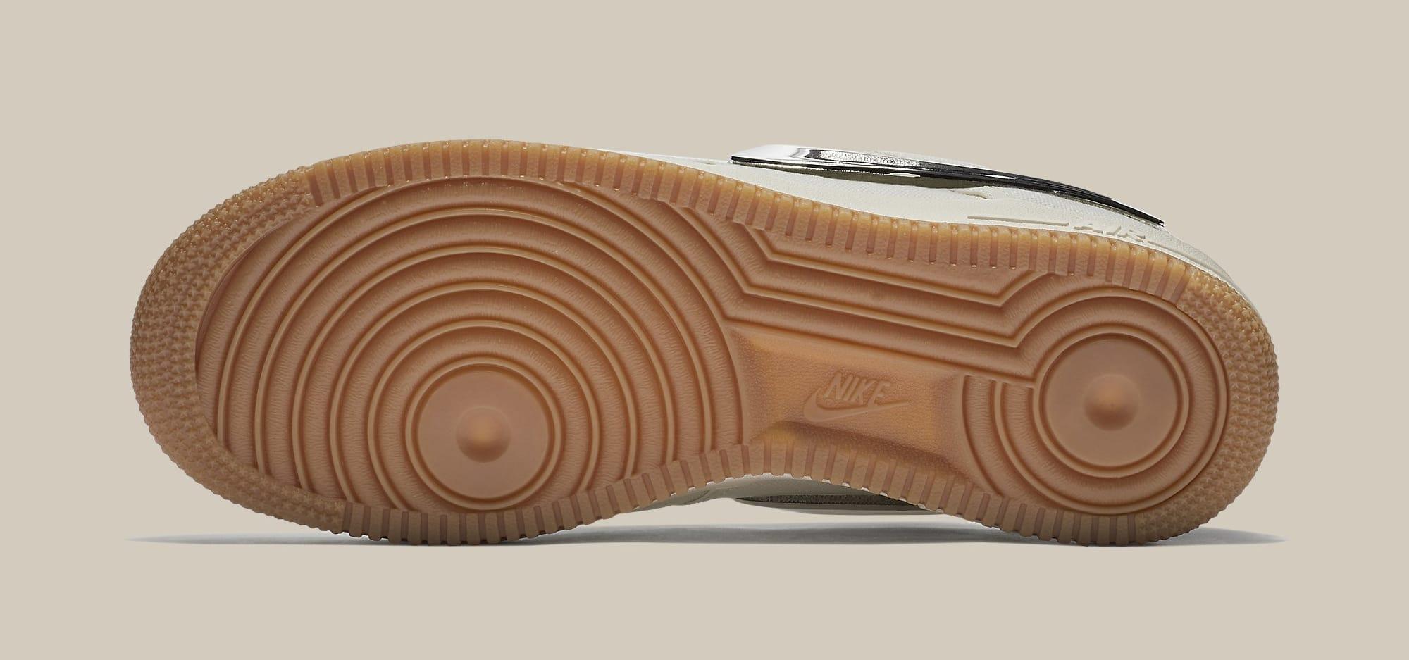 Travis Scott x Nike Air Force 1 Low 'Sail' AQ4211-101 (Bottom)