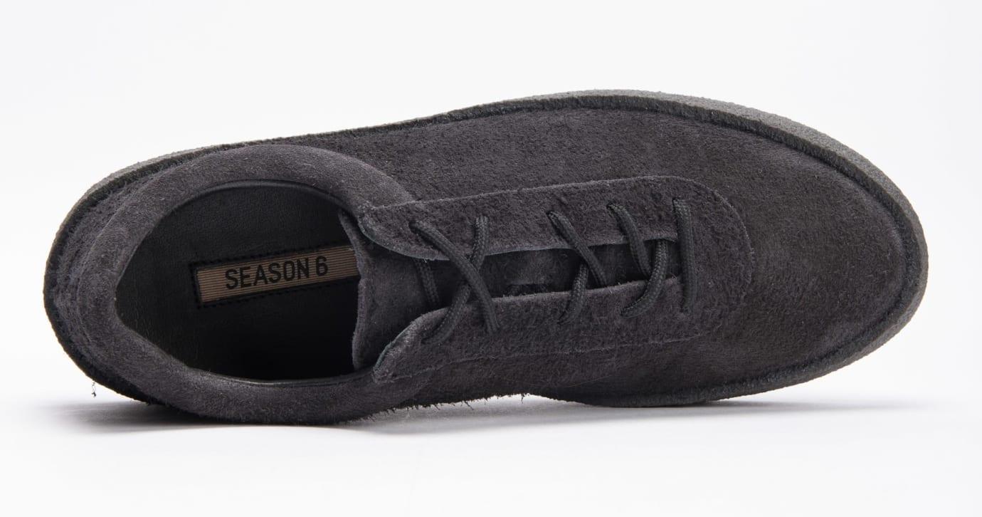 cecfa56b9a1 Image via Sivasdescalzo · Yeezy Season 6 Crepe Sneaker Thick Shaggy Suede   Black  KM5001-039 4