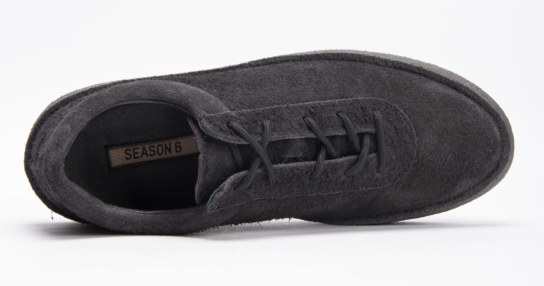 Yeezy Season 6 Crepe Sneaker Thick Shaggy Suede 'Black' KM5001-039 4