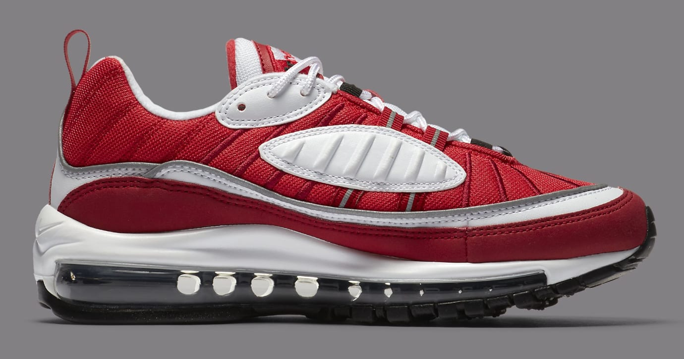 Nike Air Max 98 White/Black-Gym Red-Reflect Silver AH6799-101 (Medial)