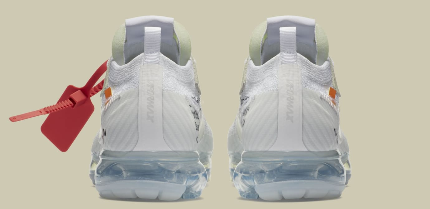 Off-White x Nike Air VaporMax 'White/Black/Total Orange' AA3831-100 (Heel)