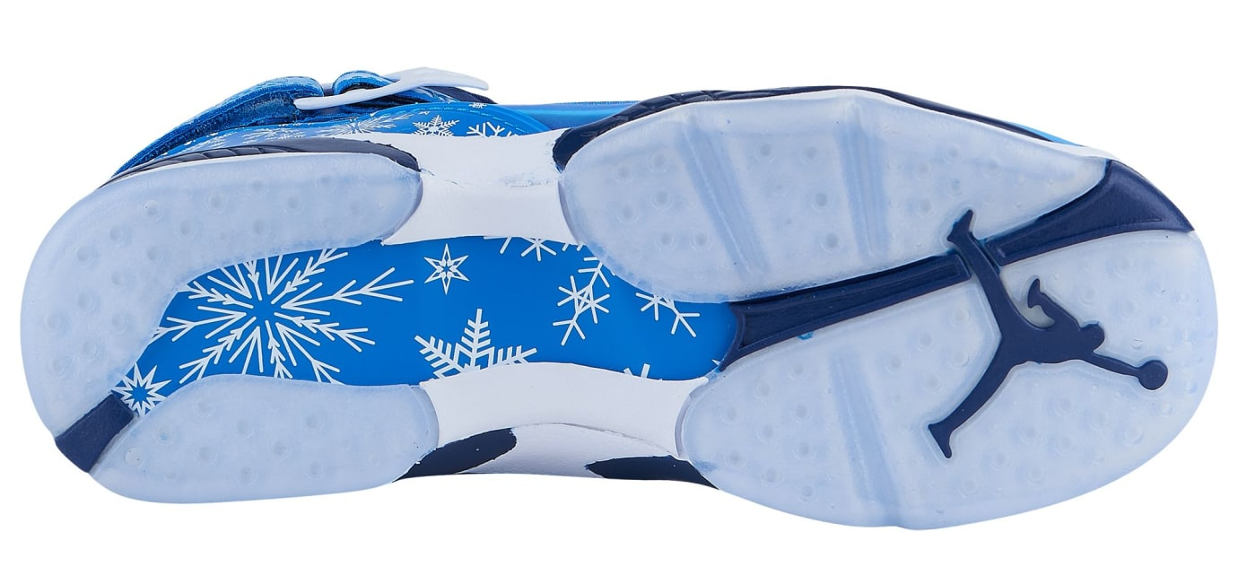 quality design 8206f c378a Image via Eastbay Air Jordan 8 VIII Snowflake Release Date 305368-400 Sole