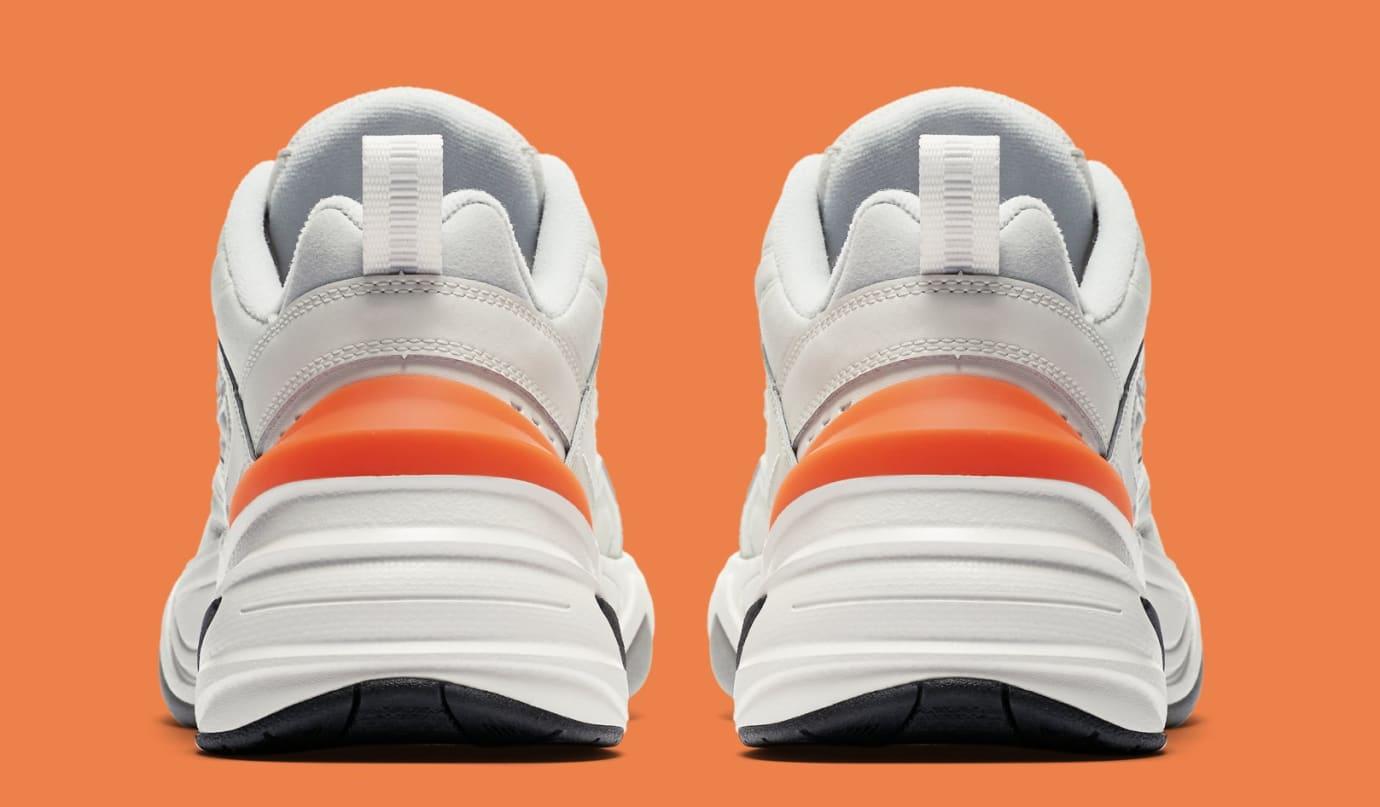 Nike M2K Tekno WMNS 'Phantom/Oil Grey/Matte Silver/Hyper Crimson' AO3108-001 (Heel)