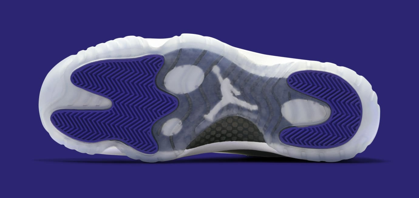 official photos 08177 2a74d Image via Nike Air Jordan 11  Concord  378037-100 (Bottom)