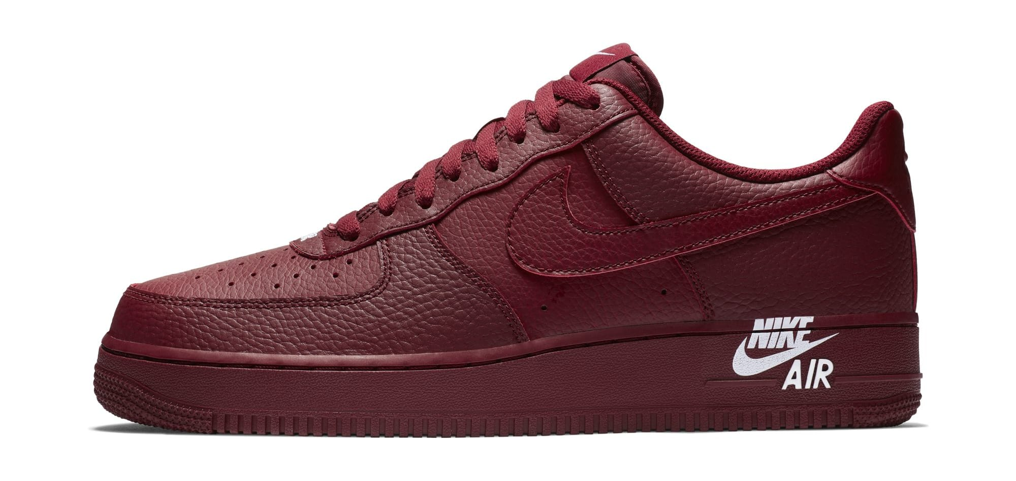 Nike Air Force 1 07 LTHR 'Team Red' (Lateral)