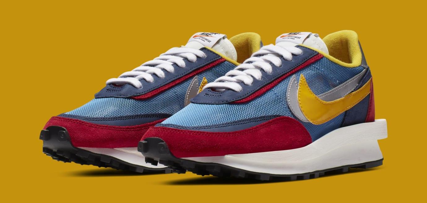 Sacai x Nike LDWaffle 'Varsity Blue/Del Sol/Varsity Red/Black' BV0073-400 (Pair)