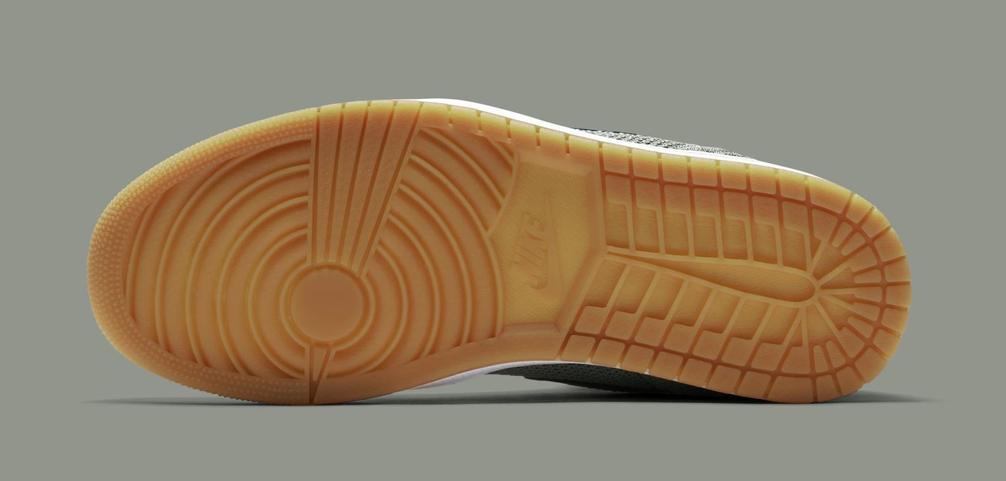 Air Jordan 1 Flyknit 'Clay Green' 919704-333 (Bottom)