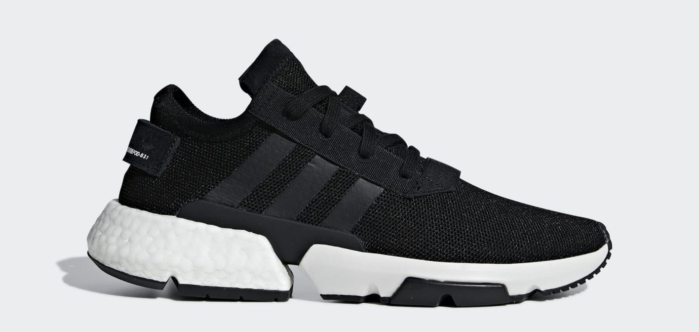 Adidas P.O.D. System Black/White B37366 (Lateral)