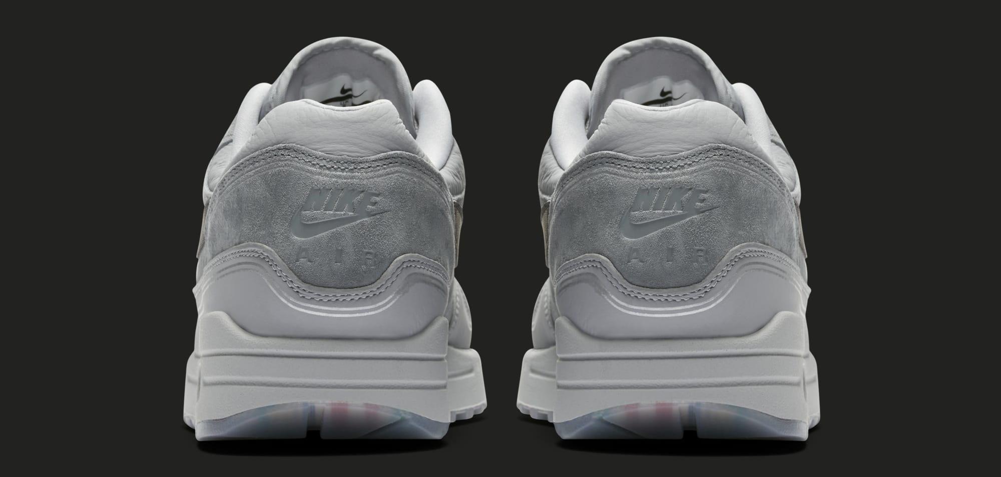 promo code fdc71 37401 Image via Nike Nike Air Max 1  Centre Pompidou  Wolf Grey AV3735-001 (Heel)