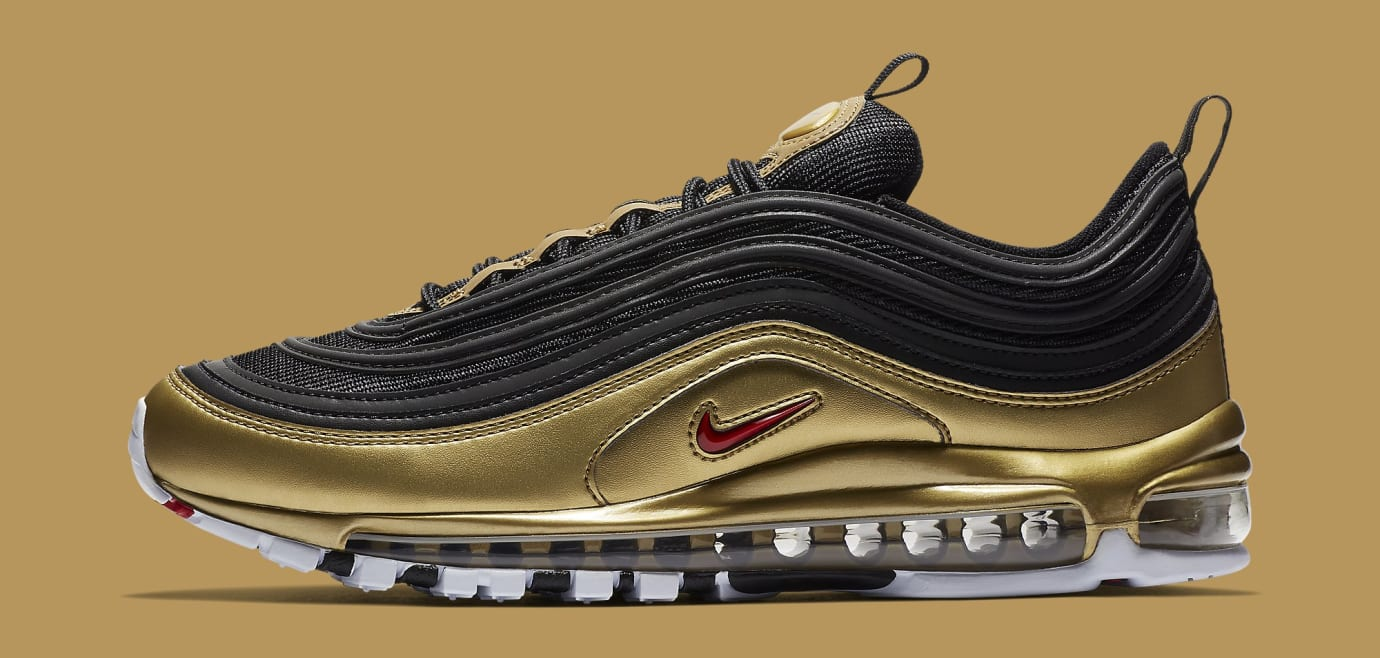 new styles f411f da6e8 Nike Air Max 97 BlackMetallic Gold AT5458-002 (Latera)