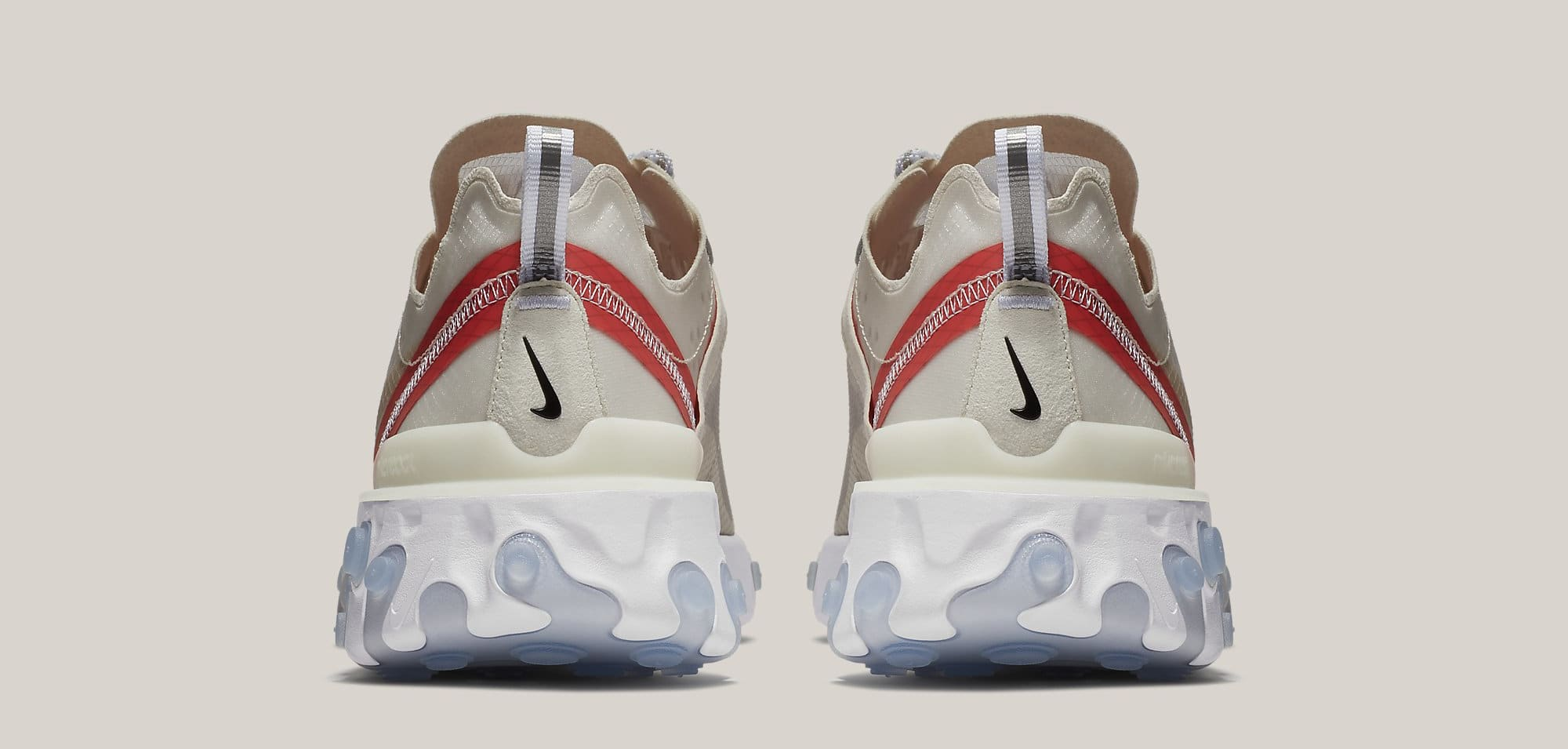 Nike React Element 87 'Sail/Light Bone/White/Rush Orange/Black' AQ1090-100 (Heel)