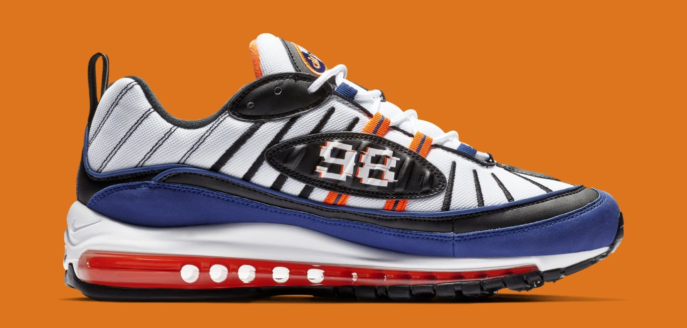 huge discount 08ed0 07173 Nike Air Max 98 'White/Deep Royal Blue-Total Orange-Black ...