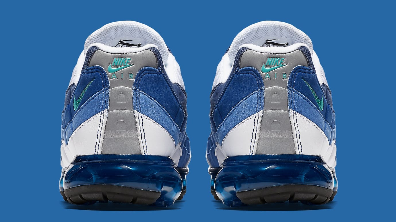 68f21f312212 Image via Nike Nike Air VaporMax 95 Slate Release Date AJ7292-100 Heel