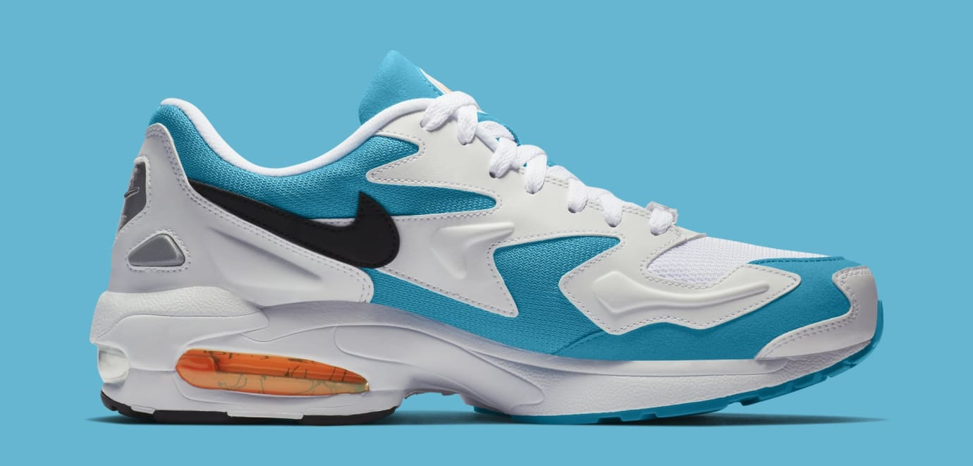 Nike Air Max2 Light 'White/Black/Blue Lagoon' AO1741-100 (Medial)