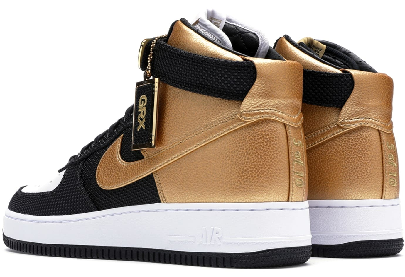 goldRush Rally x Nike Air Force 1 Bespoke (Heel Left)