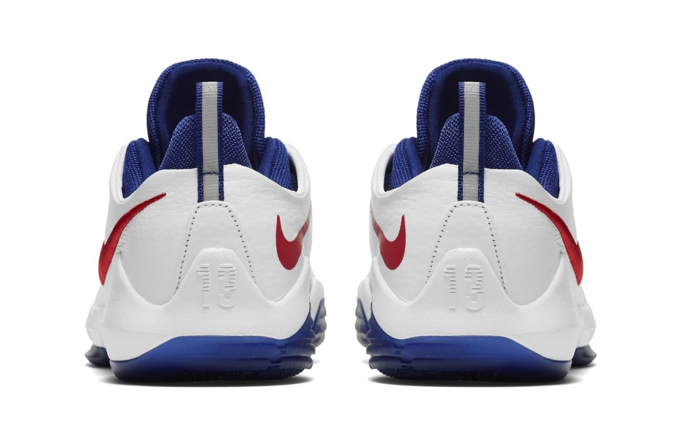 Nike PG 1 GS White/University Red-Deep Royal Blue (Heel)