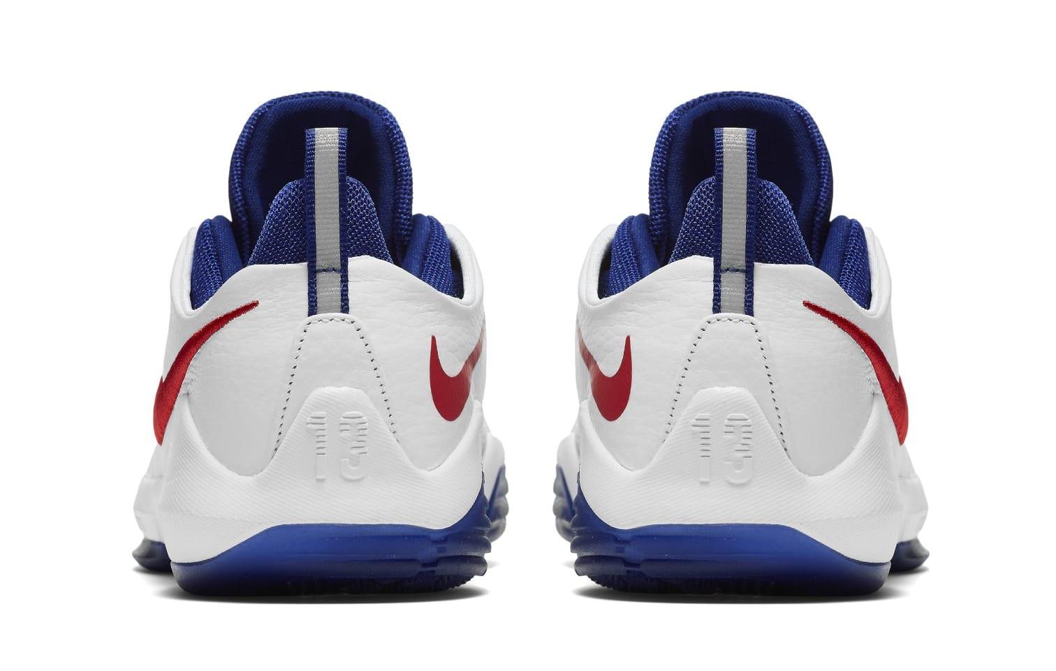 Nike PG 1 GS White/University Red-Deep Royal Blue (Heel)