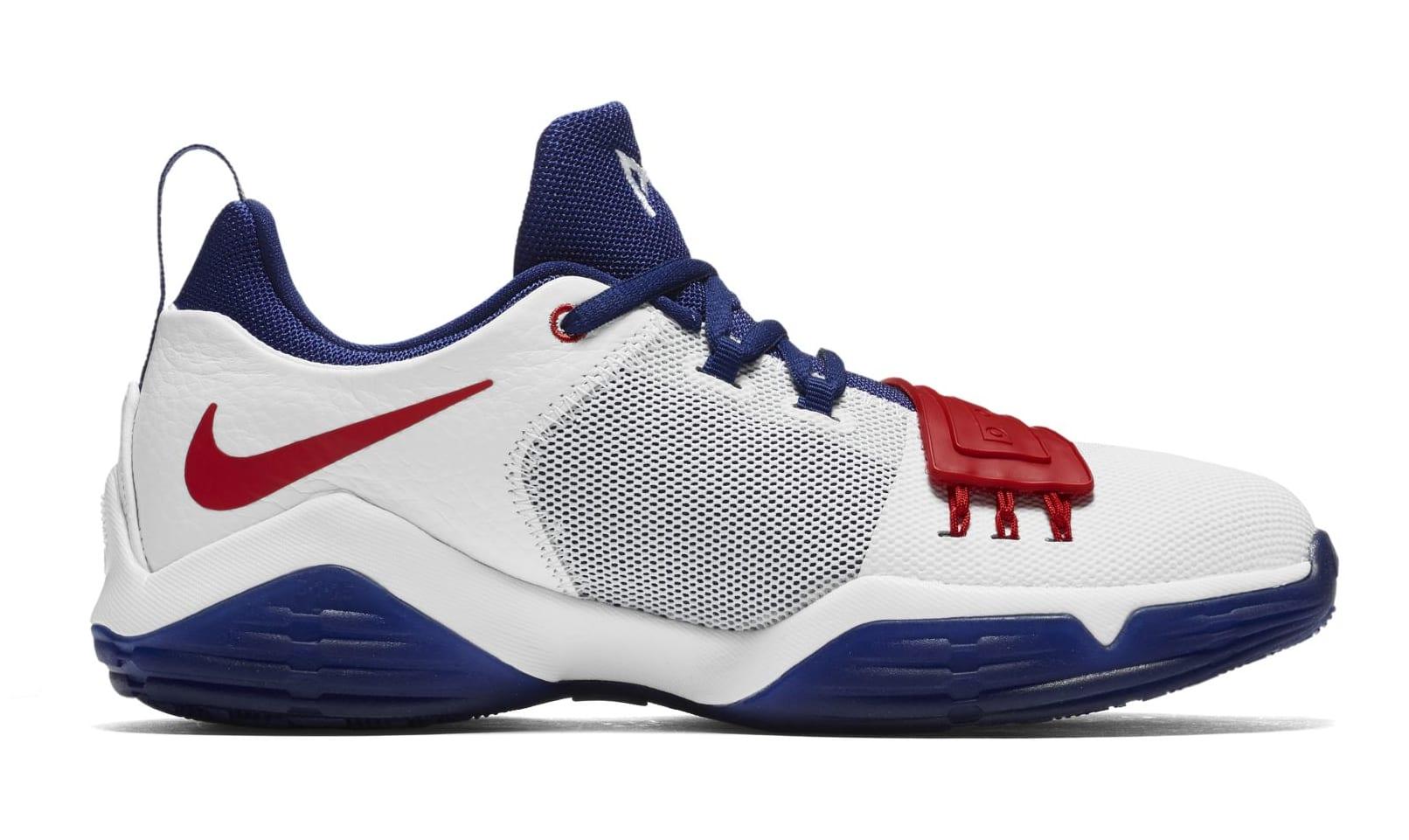 Nike PG 1 GS White/University Red-Deep Royal Blue (Medial)