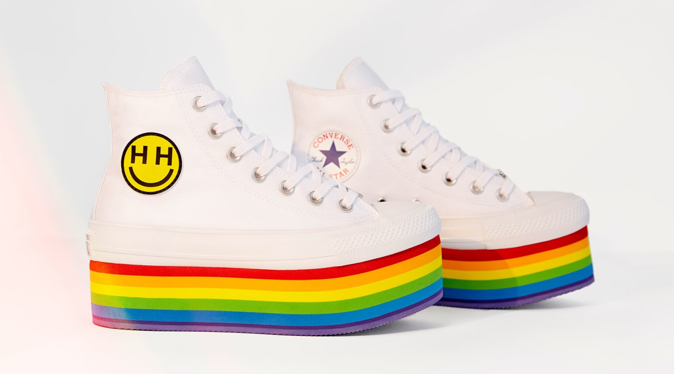 f01e747a1c6 Miley Cyrus x Converse Chuck Taylor LGBT Pride Collection 2018 ...