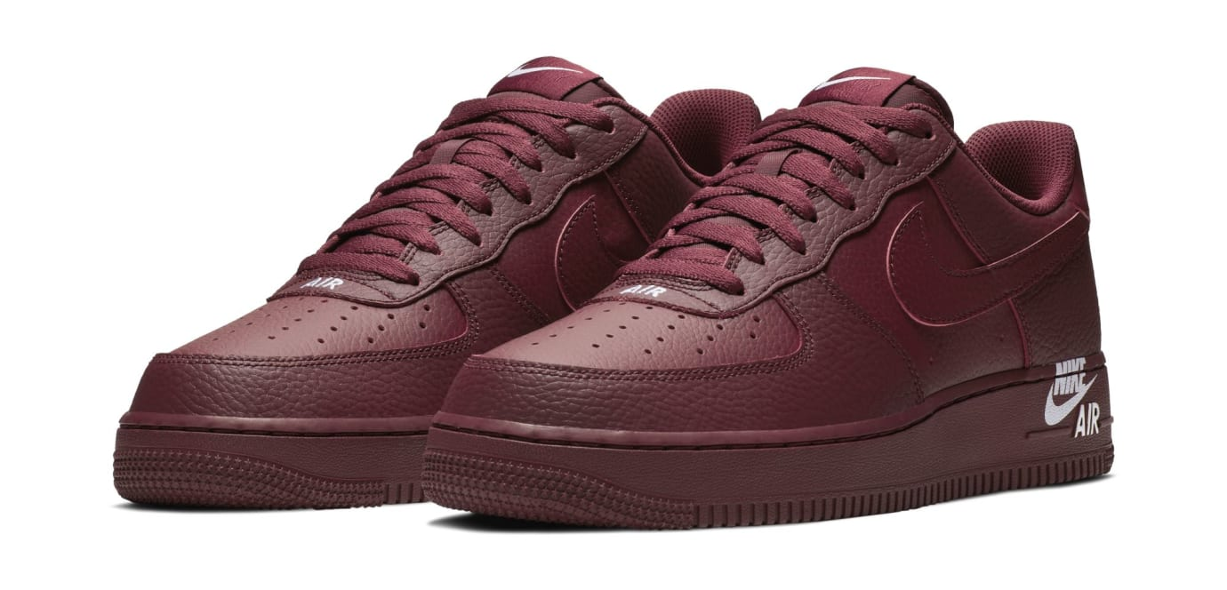 Nike Air Force 1 07 LTHR 'Team Red' (Pair)