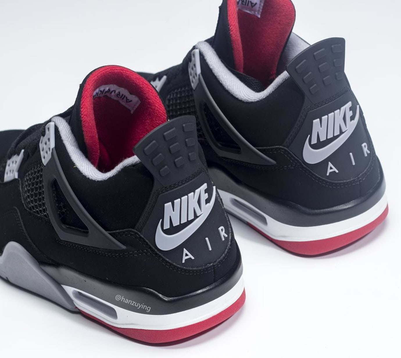 Air Jordan 4 Retro 'Bred' 2019 308497-060 Heel