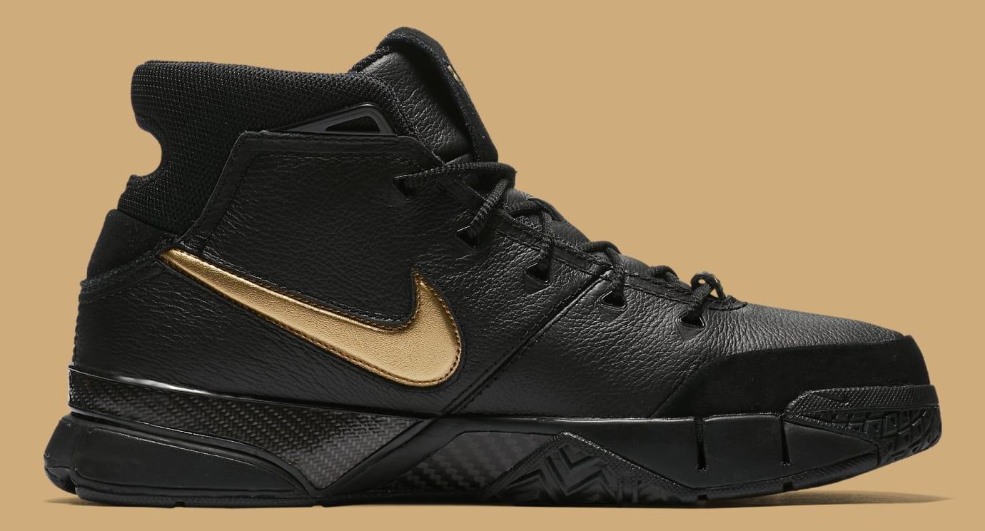 92c177d9beda Image via Nike Nike Kobe 1 Protro  Black Black White Metallic Gold  AQ2728-