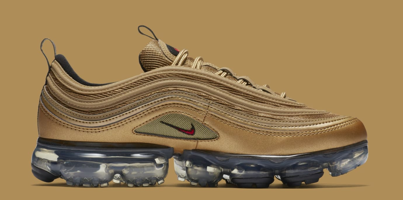 official photos 15177 39142 Nike Air VaporMax 97 'Metallic Gold' AJ7291-700 Release ...