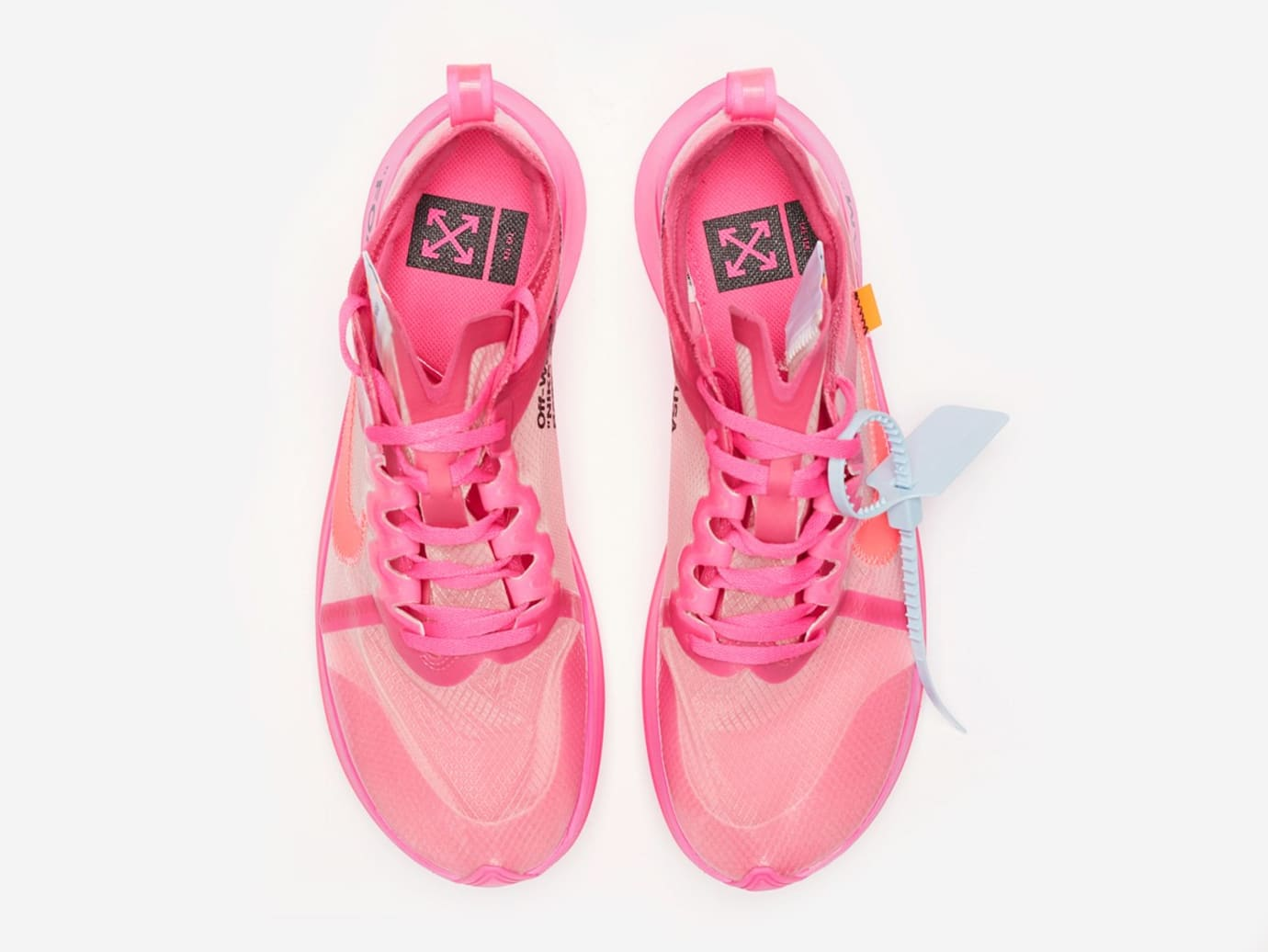 4be359875e1d Image via Sneakersnstuff Off-White x Nike Zoom Fly SP AJ4588-600  Tulip Pink  Racer