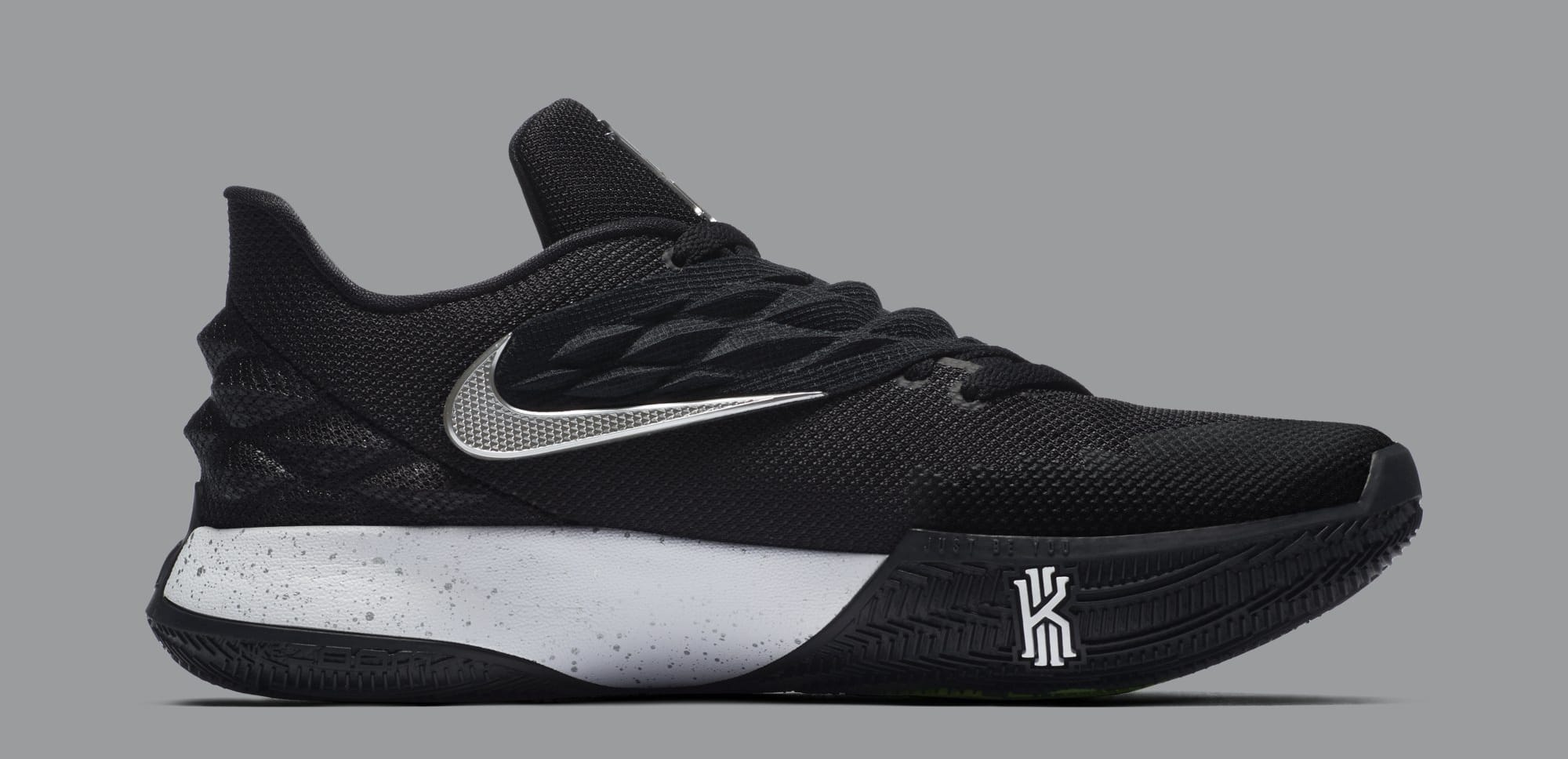 Nike Kyrie 4 Low 'Black/Metallic Silver' AO8979-003 (Medial)