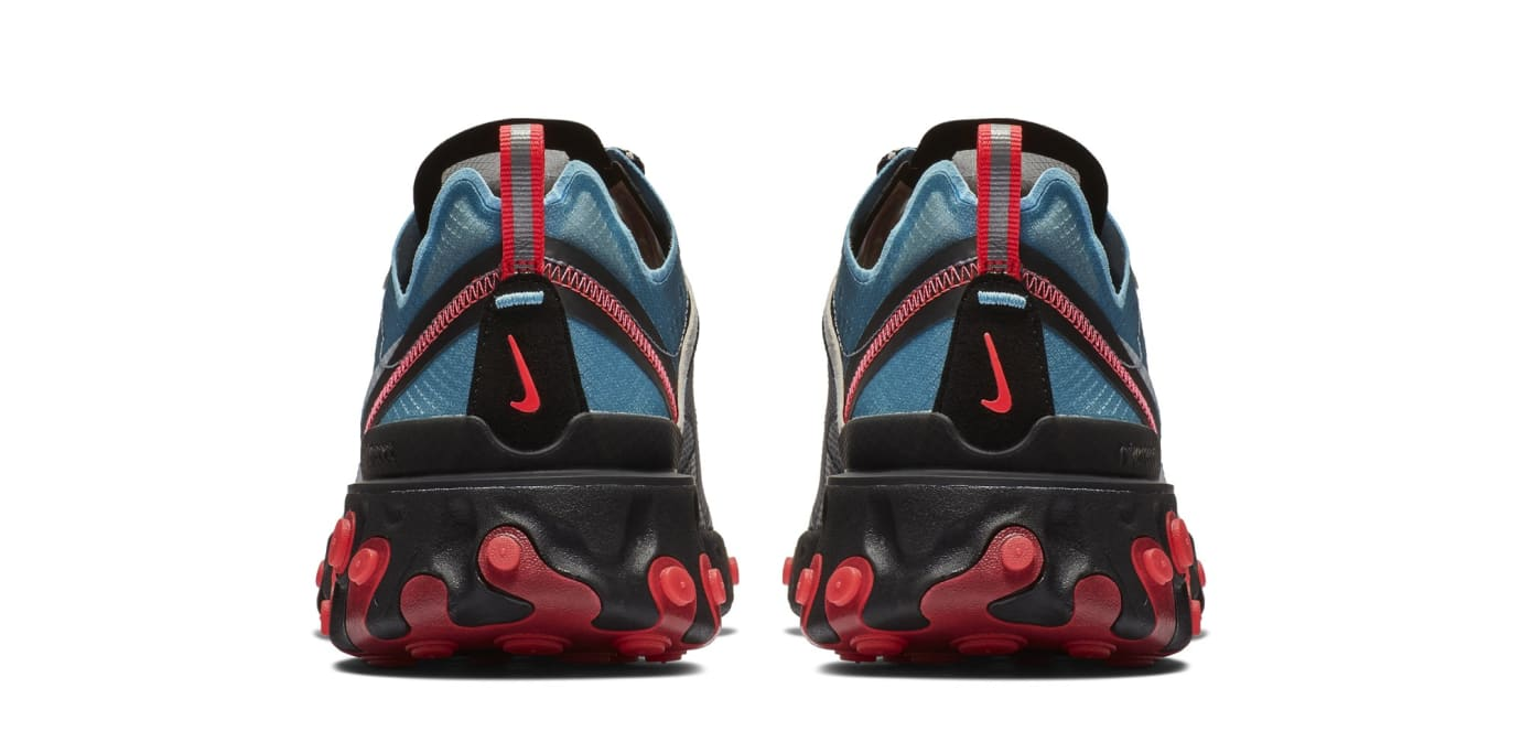 3b304d80c7df Image via Nike Nike React Element 87  Black Cool Grey Blue Chill Solar Red