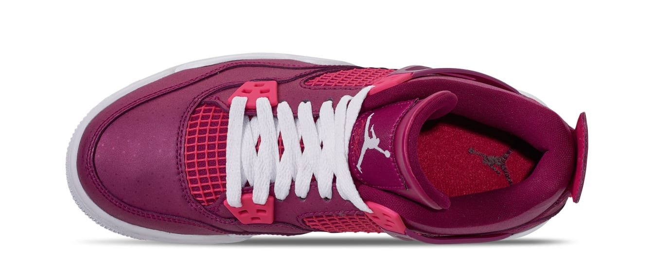 997ad3b4bfe8 Image via Finish Line Air Jordan 4 Retro GS  True Berry Rush Pink White   487724-