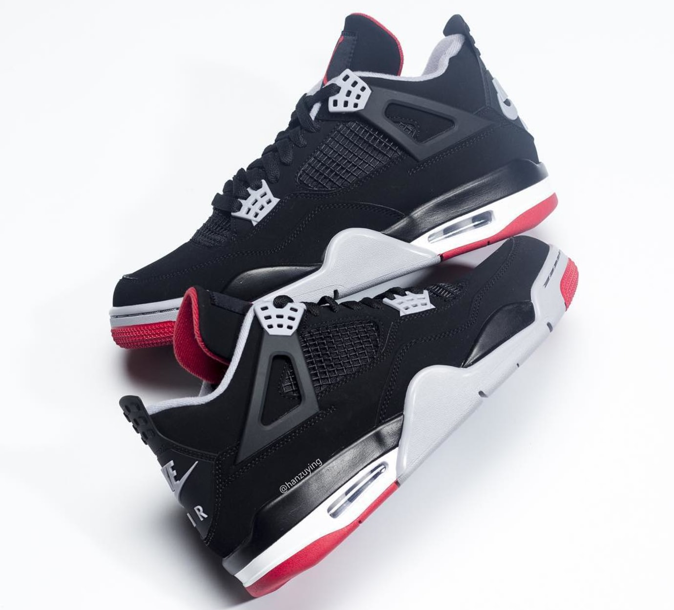 69b31f13ac6 Air Jordan 4 Retro  Black Cement Grey Summit White Fire Red  308497 ...