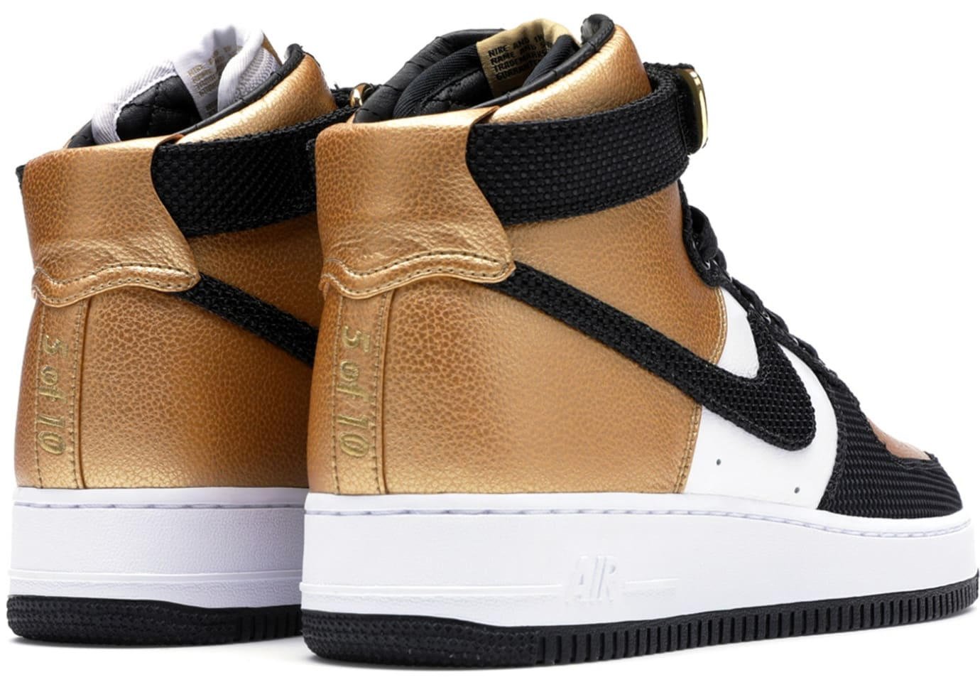 goldRush Rally x Nike Air Force 1 Bespoke (Heel Right)