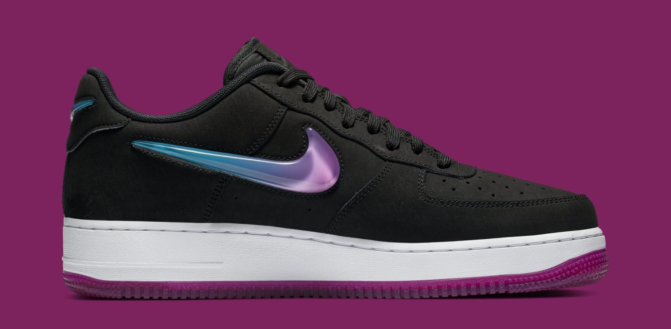 Nike Air Force 1 Low Jewel 'Black/Active Fuchsia-Blue Lagoon-White' AT4143-001 (Medial)