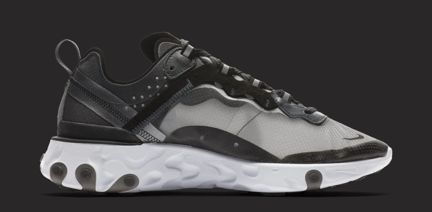 Nike React Element 87 'Anthracite/Black/White' AQ1090-001 (Medial)