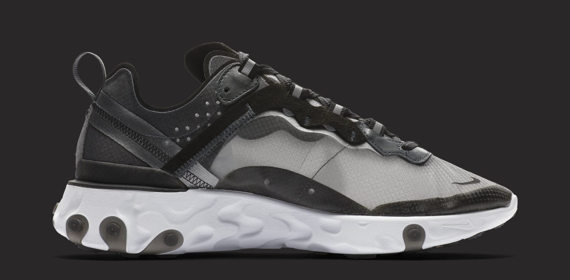 Nike React Element 87 'Anthracite/Black/White' AQ1090-001 (Medial)