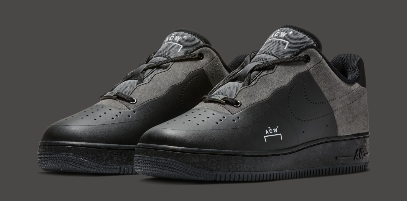 A-Cold-Wall* x Nike Air Force 1 Low 'Black/Dark Grey-White' BQ6924-001 (Pair)