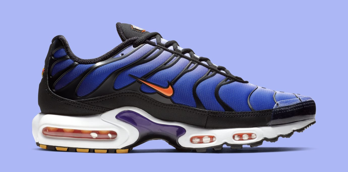 Nike Air Max Plus 'Black/Total Orange-Voltage Purple' BQ4629-002 (Medial)