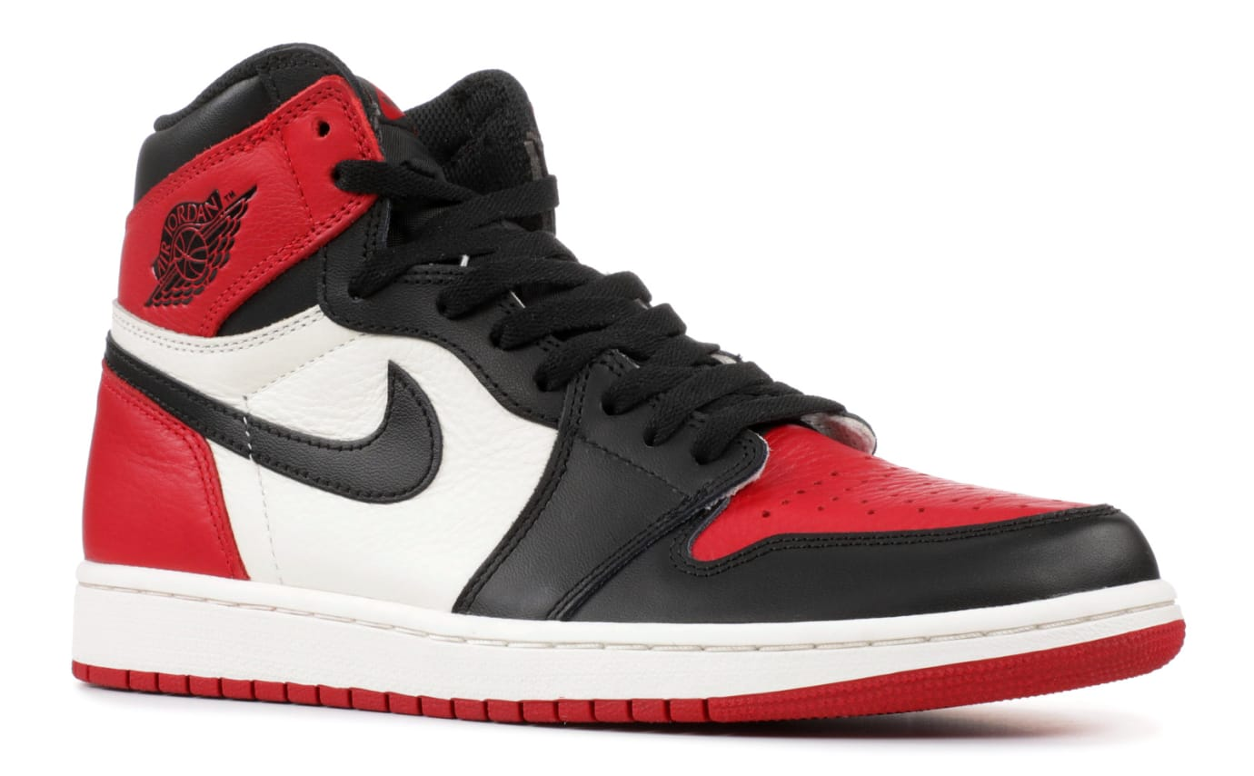 buy popular 365eb cd755 Air Jordan 1 I Bred Toe Release Date 555088-610 Front