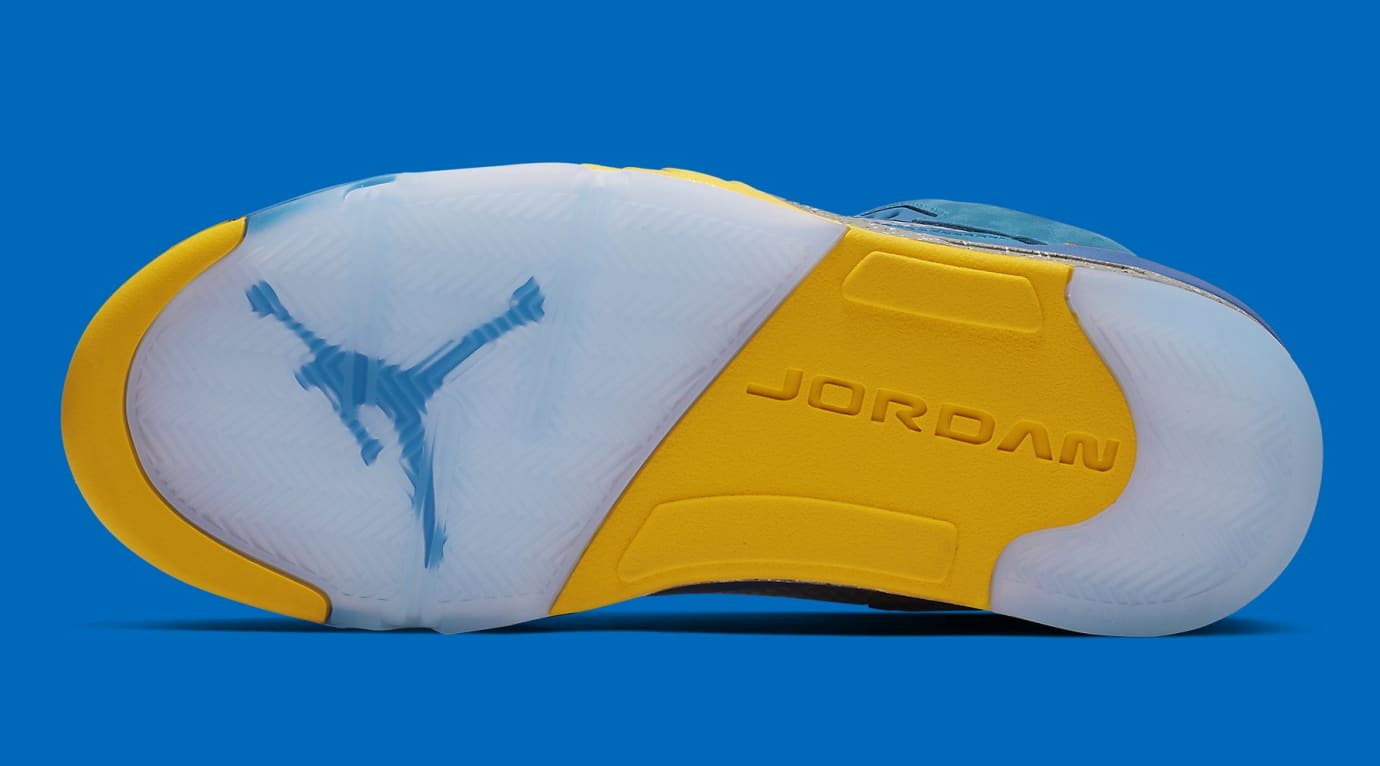 Air Jordan 5 Laney Blue Release Date CD2720-400 Sole